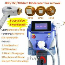 1064nm/755nm/808nm Diode Laser Permanent Body Hair Removal Beauty Machine 4PX