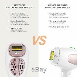 Teeteck IPL Permanent Hair Removal Cooling Technology Skin Sensor Protect INLINS