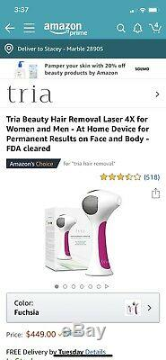 Tria Beauty Permanent Laser Hair Removal 4x Newest Model LHR 4.0