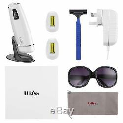 U-Kiss IPL Permanent Hair Removal Device 450,000 Flashes + Extra Lamp Head White